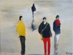 Promeneurs - 61 x 46 cm