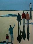Sur la plage - 50 x 70 cm